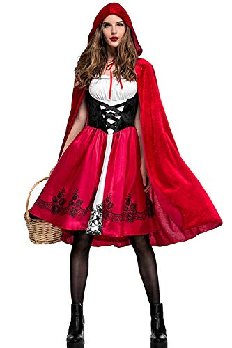 Donne in Costume di Halloween Vestito Cappuccetto Rosso Nightclub Queen Red XXL