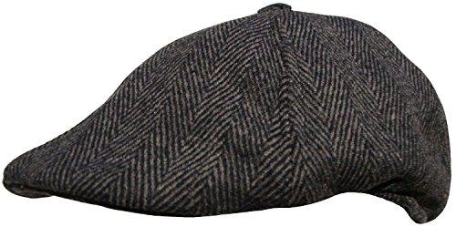 Générique Homme Button Top Casquette Plate Baker Boy Casquette - Gris - X-Large