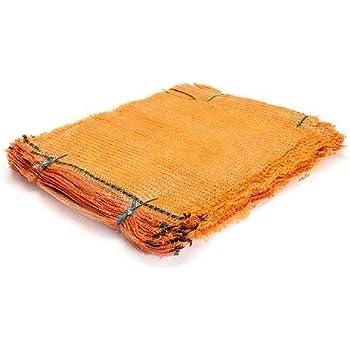 200 Stück Raschelsäcke für 25,0 kg Holzsäcke Kartoffelsäcke mit Zugband