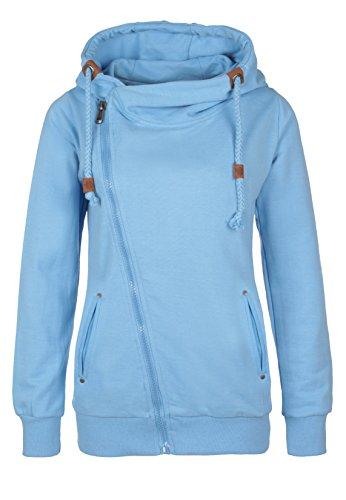Sublevel felpa cerniera per donna, in stile sportivo-elegante   felpa con cappuccio hoodie   sweater