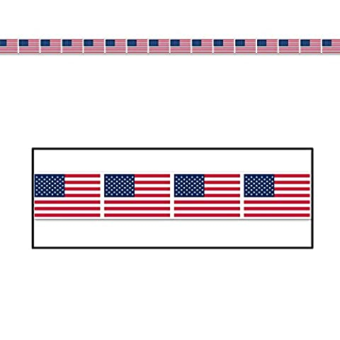 Pack de 12 american flag party tape