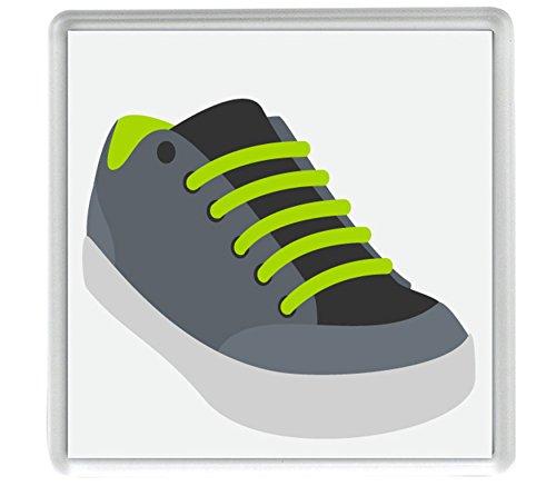 Athletic Schuh Emoji-4Stück 80mm x 80mm Untersetzer (Athletic 4 Schuhe)