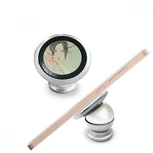 DIYthinker Peach Blossom Beauty chinesisches Aquarell Magnetic-Telefon-Einfassung Auto-Armaturenbrett-Halter-Standplatz 360 Grad Drehung Geschenk -