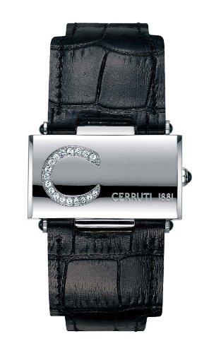 Cerruti - 4340442 - Montre Femme - Quartz - Analogique - Bracelet Cuir Noir
