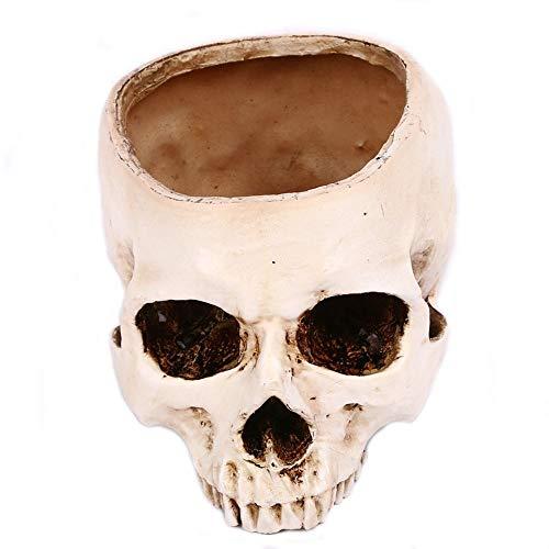 schädel Kopf blumentopf, Home bar Halloween dekor ()