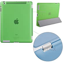 doupi Backcase Arrière Coque iPad ( 5. Generation 2017 Modell ) - convient doupi Smart Cover - Extra Fixation et Protection - Mat Semi Transparent, Vert