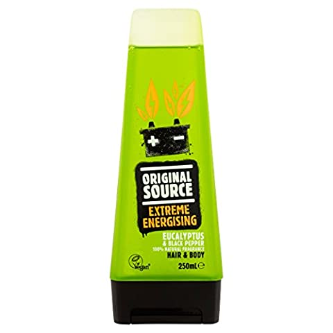 Original Source Eucalyptus and Black Pepper Extreme Energising Shower Gel 250 ml - Pack of 6