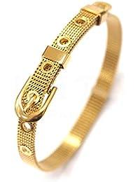 56c648f18b24 Les Trésors De Lily  Q5032 - Bracelet créateur Acier  Ceinture  ...