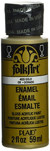 folkart-enamel-glass-ceramic-paint-in-assorted-colors-2-ounce-4033-metallic-gold