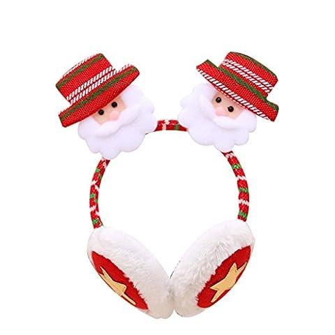 Originaltree Weihnachten Ohrenschützer Stirnband Ohrwärmer für Kinder Erwachsene size (Weihnachten Sankt Bären)