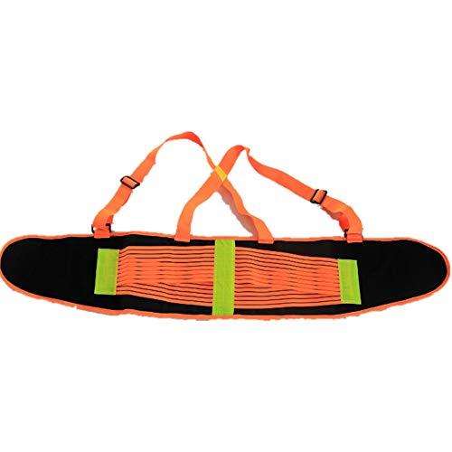 Jadeshay Lordosenstütze Gürtel - Lower Back Brace Körperhaltung Korrektor für Männer Schmerzlinderung und Verletzung Prävention, Verstellbare Rückenstütze Gürtel, Fluoreszierende Orange