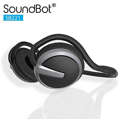 Soundbot SB221-GRY/BLK Bluetooth Headphones (Grey/Black)