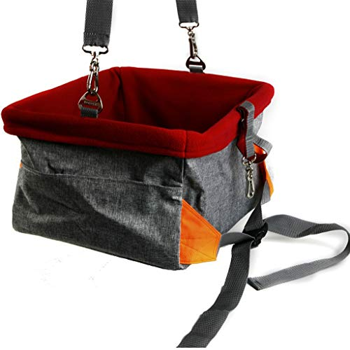 Autotransportboxen Hundetransportbox Haustier-Autositz, Wasserdichte Und Bequeme Haustier-Auto-Matte, Wasserdichtes Und Rutschfestes Auto-Nest (Color : Gray, Size : 41 * 32 * 21cm)