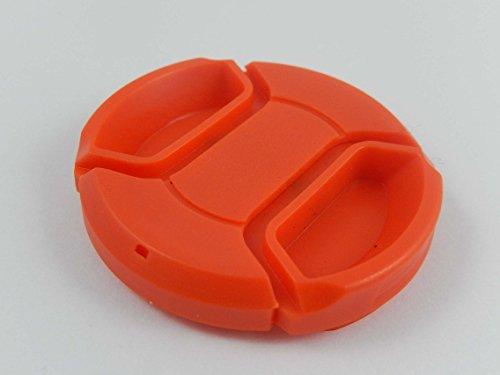 vhbw Tapa de objetivo 46mm roja para cámaras Panasonic Lumix G 25 mm F1.7, Panasonic Lumix G Macro 30 mm 2.8 Asph OIS.