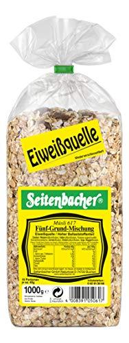 Seitenbacher Müsli 5-Grund-Mischung, 3er Pack (3 x 1000 g Packung)