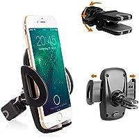 Avoalre Soporte Móvil Coche para Rejillas de Ventilación de Coche Universal Girable 360 Grado 95mm para Teléfonos iPhone 8 7 6 Plus 6s 6 SE Android Huawei Samsung GPS Garantía de por Vida