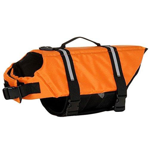 Haustier Rettungsweste - Hündchen Schwimmweste Hund Lebensretter Sicherheit Lebensretter zum Schwimmen mit Verstellbare Schnalle Schwimmmantel Multi-Größe -