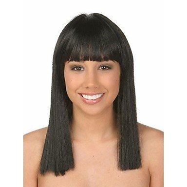 HJL-perruque de couleur naturelle porte extensions femmes dame Bob perruque cogn¨¦ syntheic , natural black