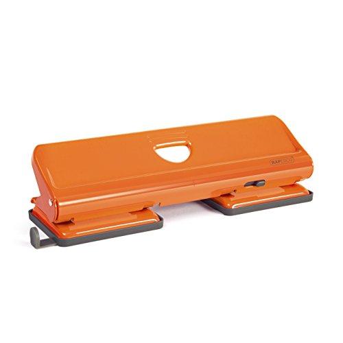 Rapesco 1409 Metalllocher 720 4-fach Locher bis zu 22 Blätter, orange