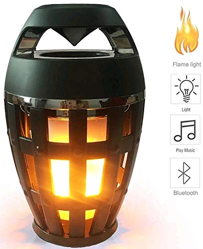 KITRONICS Flame Lamp Wireless Portable BT Speaker Torch Atmosphere Light USB Charging Stereo Soundbar for All Android and Smartphones
