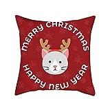 Fenverk Bedsure Kissenhülle Weihnachten Kissenbezug Vogel Baum Bettwäsche aus Baumwolle Kissenbezug Taillenabdeckung Wohnkultur Zierkissenbezug Sofa Kissenbezug Kissenhülle 45x45 cm