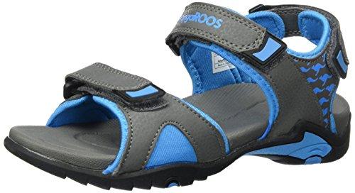 KangaROOS Unisex-Kinder Inclas Sandalen, Grau (Dk Grey/Blue)