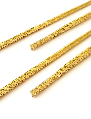 snors-shoelaces-round-laces-gold-60cm-236-ca-3mm-replacement-shoelaces-strings-with-integrated-stabi