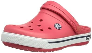 Crocs Cband2.5ClogK Red/Navy C10/11, Unisex-Kinder Clogs, Rot (Red/Navy 639), 27/29 EU