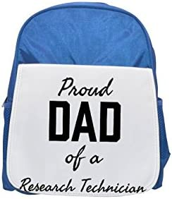 PROUD PROUD PROUD DAD OF A Research Technician printed kid's Bleu  backpack, Cute backpacks, cute small backpacks, cute Noir  backpack, cool Noir  backpack, fashion backpacks, large fashion backpacks, Noir  fashio | Pas Chers  f2a872