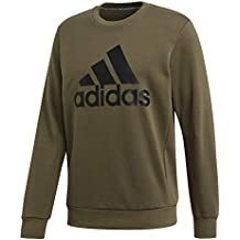 adidas Mh Bos Crew Ft Long Sleeve Sudadera, Hombre, Raw Khaki/Black,