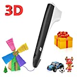 3D Pen,3D Printing Pen Compatible with 1.75mm PLA Filament,Coming with Shovel and Stencil as Bonus,Black Color