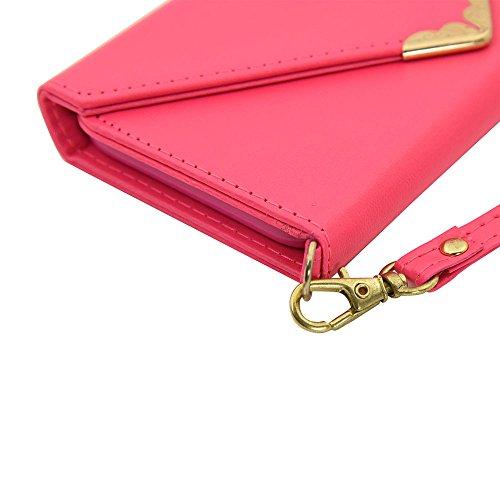 JIALUN-Telefon Fall IPhone 7 Hülle, mit Lanyard, Kartensteckplatz und Magnetverschluss öffnen Sie das Telefon Shell für IPhone 7 (4,7 Zoll) ( Color : Red , Size : IPhone 7 ) Pink