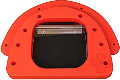 PetzPodz LARGE red premium plastic Front Insert for pod with clear acrylic dog flap