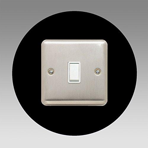 Einzel-Surround | Back Panel oder Finger Teller | 3mm | 16Farben (schwarz, grau, weiß, elfenbeinfarben, blau, braun, grün, rot, rosa, orange, gelb) erhältlich | quadratisch Acryl, schwarz -