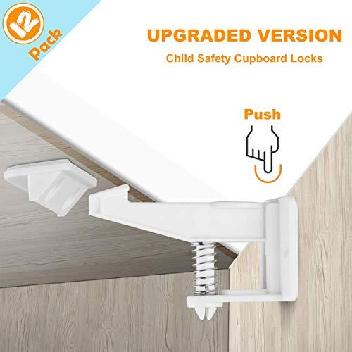 Child Safety Locks, 12 Pack Child Safety Cupboard...