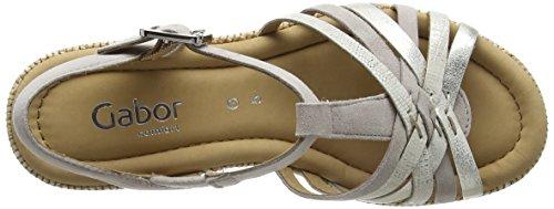 Gabor Shoes Comfort, Sandali con Zeppa Donna Rosa (puder ba.st)