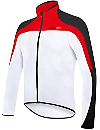 RH + spacethermo Jrs wh-blk-red S, camisetas (Ciclismo) Hombre, white-black-red, S