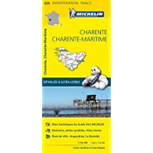 Carte Charente, Charente-Maritime Michelin