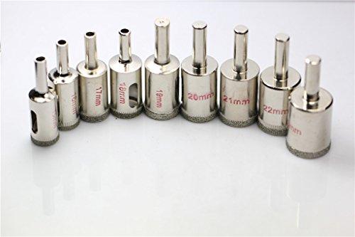 Preisvergleich Produktbild SHINA Glasbohrer Hohlbohrer Lochsäge Bohrkrone Fliesenbohrer Diamant-Lochsäge 16-28mm (Durchmesser 22mm)
