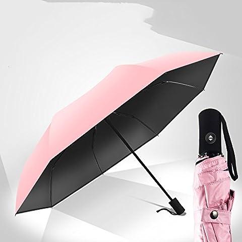 ZRLsly Vollautomatische Regenschirm Korea Kleine Frische Uv Sonnencreme Und Sonnenschirm Bivalente Sonnenschirm Automatik Schirm