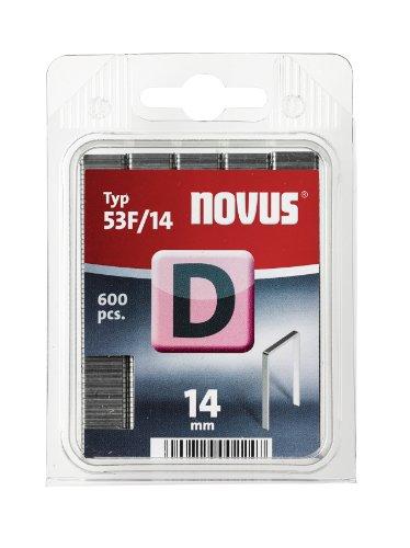 Novus 042-0378 Blister de 600 Agrafes plates 53F/14 mm Rouge