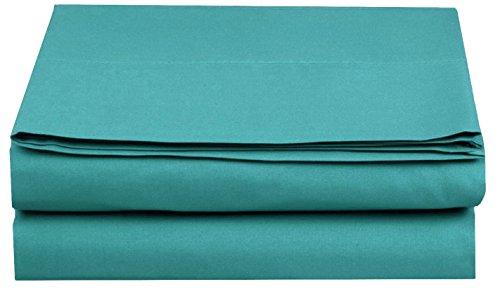 Luxus-Spannbetttuch. Top-Qualität, eleganter Komfort, faltenfrei, Fadenzahl 1500, ägyptische Qualität, für Queen-Size-Betten, Türkis