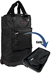 Wheeled Hand Luggage Cabin Bag Folding Flight Bag Shopping Bag on Wheels 55 x 38 x 20cm by compass