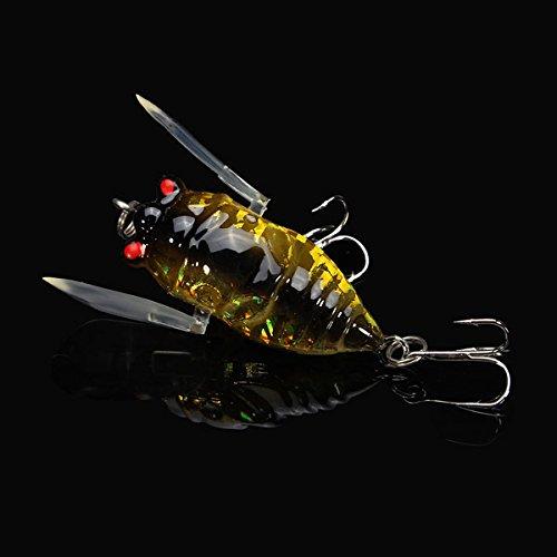 LaDicha Zikade 6G Barsch Insekt Köder Köder Lebensechte Köder Für Den Fischfang Mit Haken