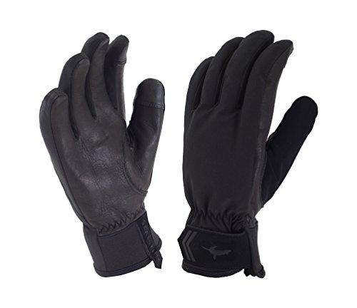SealSkinz Damen All Season Handschuhe, Schwarz/Charcoal, Large -