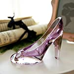Crystal Shoes Glass Slipper Home Decor Cinderella High Heels Shoes Wedding Shoes Figurines Miniatures Ornament