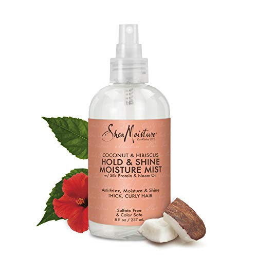 Shea Moisture Leave In Conditioner (Shea Moisture Coconut Hibiscus Hold und Shine Mist, 1er Pack (1 x 236 ml))