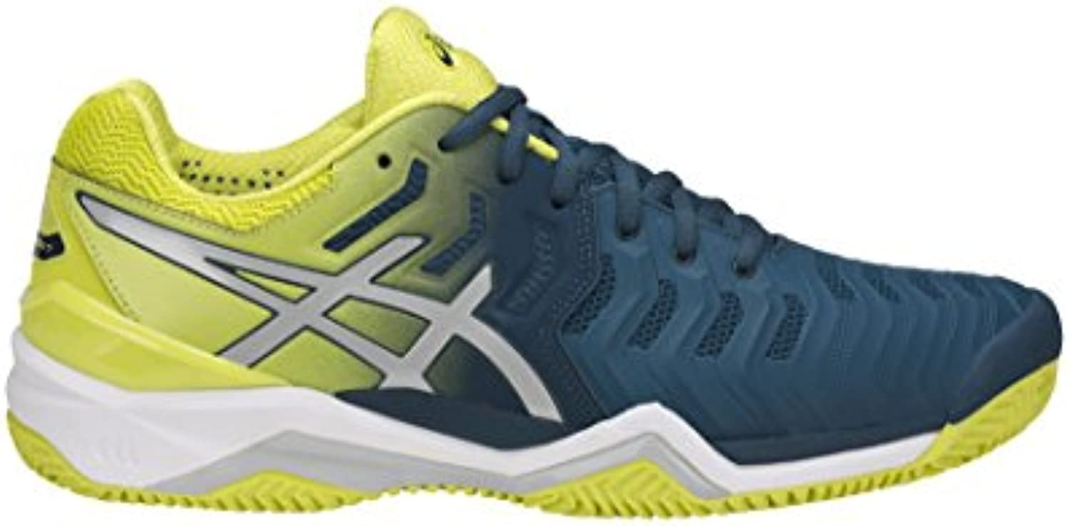 Asics Gel Resolution 7 Clay Azul Amarillo E702Y 4589  -