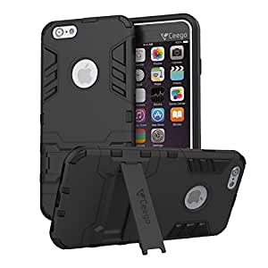 the latest 5e01a cab16 Ceego Apple iPhone 6/6s Cover - Stealth Defence Back Case for iPhone  6/iPhone 6s [with Shock Protection & Built-in Stand] - Matte Black
