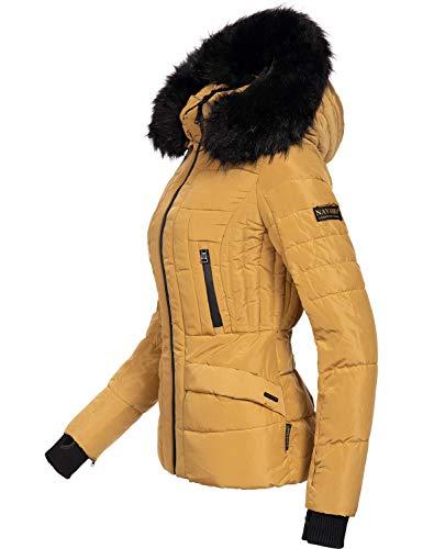 Navahoo Damen Winter Jacke Steppjacke Adele (vegan hergestellt) Camel Gr. M